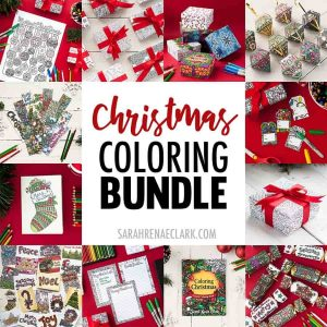 This printable Christmas Colouring Bundle includes all of the best-selling Christmas craft templates
