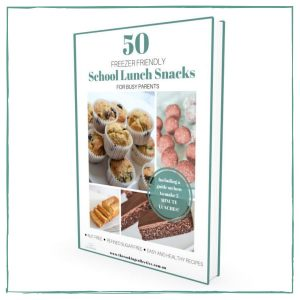 E-BOOK of healthy, freezer friendly school snacks. 50 nut and refined sugar free recipes.
