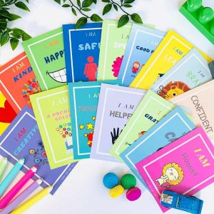 "Affirmation Cards for Kids - ""Little Minds"" packs are great for ages 4-7 years. As important as it is for parents to encourage love and support for their children, it is just as important that children learn to create this within themselves."