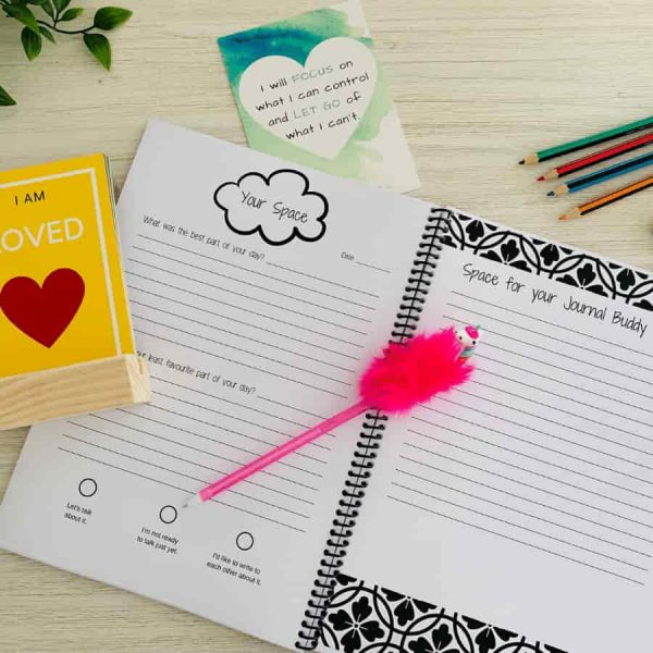 Your child has the opportunity to write about their day, their feelings and ask questions.