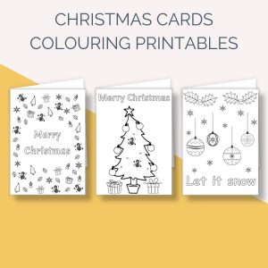 Mindful Colouring Christmas Cards for Kids