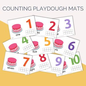 Counting Playdough Mats