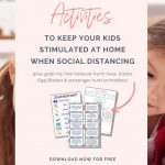 I've pulled together the ultimate list of things you can do with your kids at home when social distancing.
