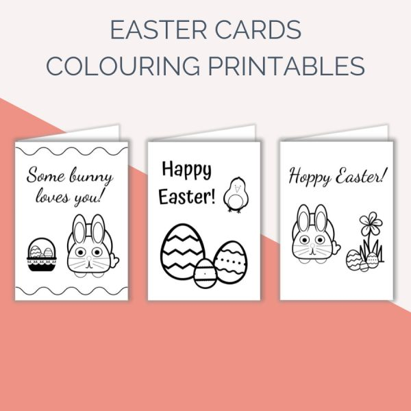 Mindful Colouring Easter Cards for Kids