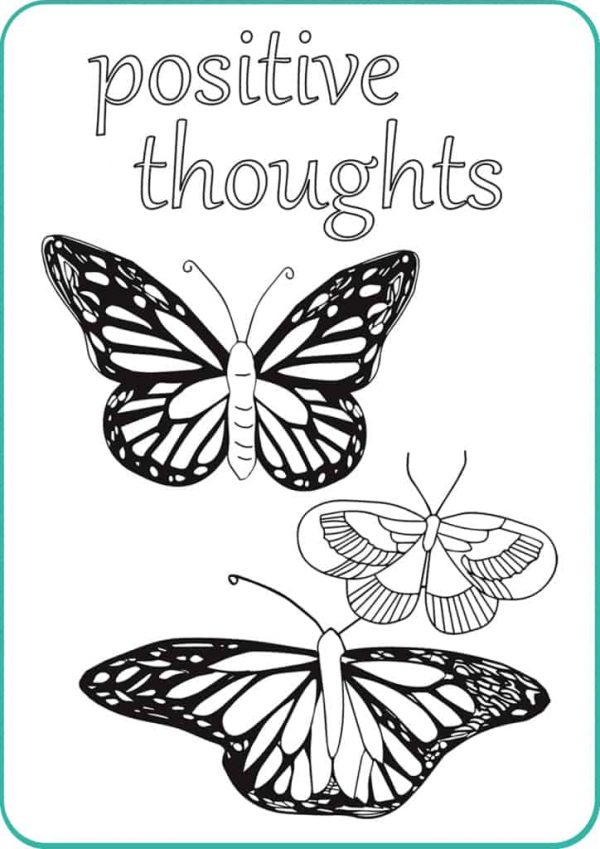 Mindfulness Colouring Cards with Affirmations ~ 47 double sided cards with affirmations and intricate colouring