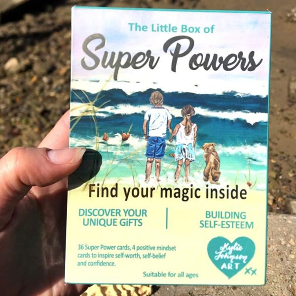 40 Super Power Affirmation cards designed to bring awareness to our qualities that come from within